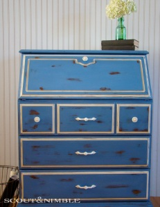 Greek Blue Painted Furniture