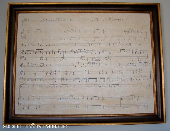sheet music art, wedding song art