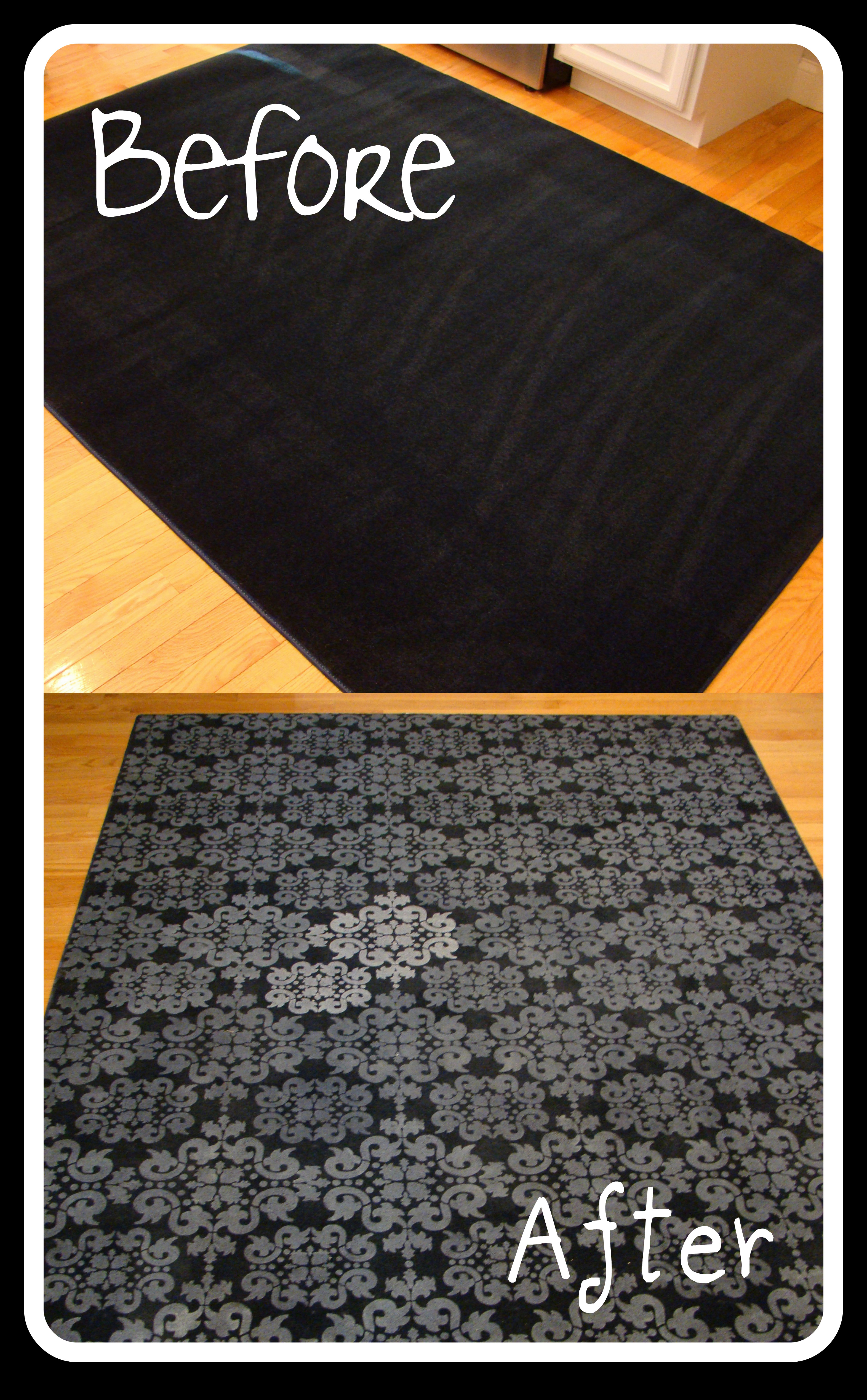 Stenciling A Rug Scout Amp Nimble