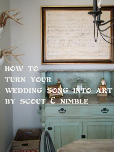 make art out of your wedding song